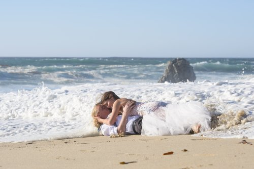 Garrapata Beach Sur Trash The Dress Wedding Photography